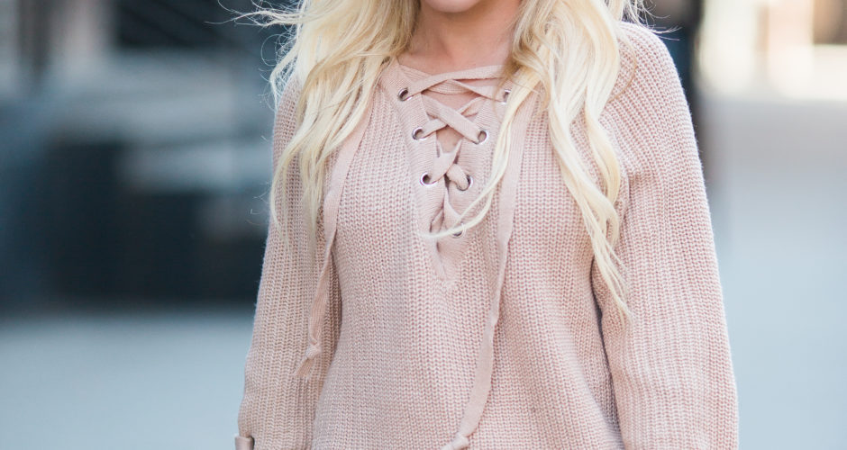Lace Up Sweater Trend